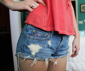 shorts, hollister, and jean shorts image