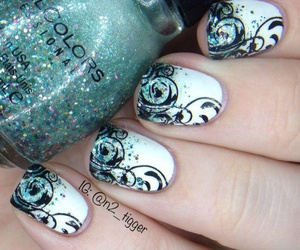 nails, manicure, and nails art image
