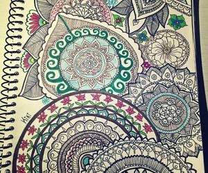 flower, mandala, and notebook image