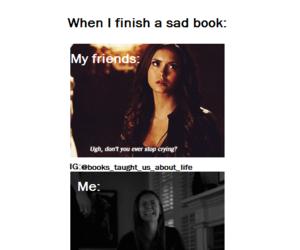 books, cry, and fandom image
