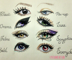 drawing, eyes, and beauty image