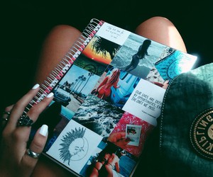 book, goals, and hipster image