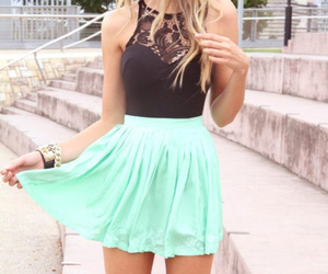 black, blonde, and girly image