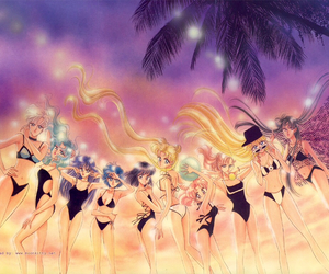 sailor moon and sailor scouts image