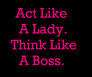 quote, lady, and boss image