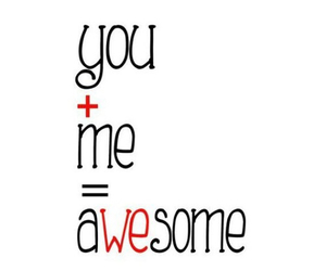 love, awesome, and me image