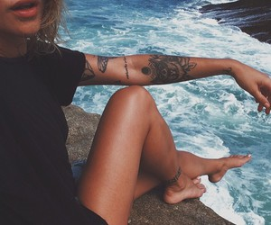 hipster, tattoo, and vintage image
