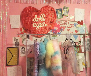heart, nymphet, and pink image