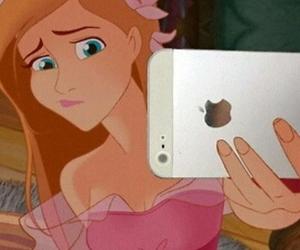disney, iphone, and selfie image