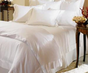 bed, bedsheet, and linen image
