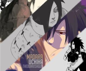 naruto, uchiha, and madara image