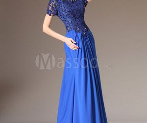 evening dress, long evening dress, and cheap evening dress image
