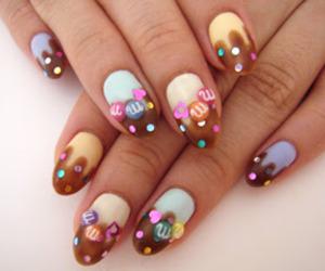 nails, chocolate, and nail art image