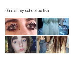 girl, funny, and school image