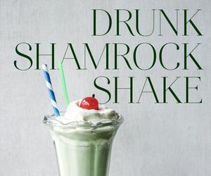 milkshake, shamrock, and whiskey image