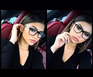 zendaya, makeup, and glasses image