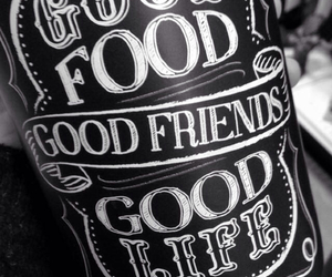food, life, and friends image
