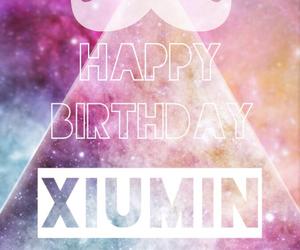 exo, galaxy, and happy birthday image