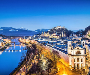 austria, blue, and buildings image