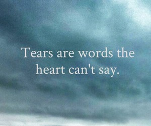 tears, words, and heart image