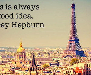 audrey hepburn, eiffel tower, and france image