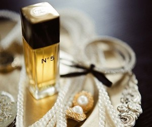 pearls, chanel, and perfume image