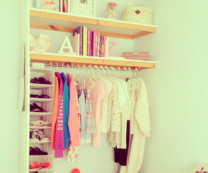 clothes, shoes, and books image