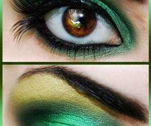 eye, party, and make image
