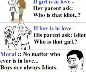 funny, boys, and idiots image
