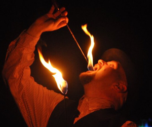cool, fire eating, and flames image