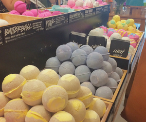 bath bombs, blue, and colors image