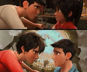 hiro, big hero 6, and tadashi image
