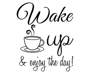 coffee, enjoy, and wake up image