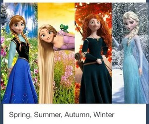 winter, autumn, and disney image