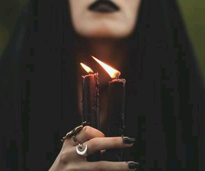 candle, black, and witch image