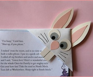 bookmark, bunny, and cute image