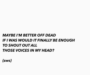 Lyrics, madness, and quote image