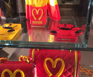 Moschino, red, and yellow image
