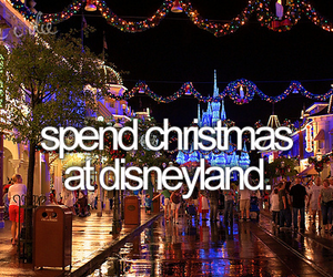 christmas, disneyland, and bucket list image