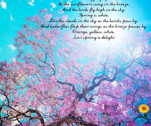 beautiful, pink, and spring image