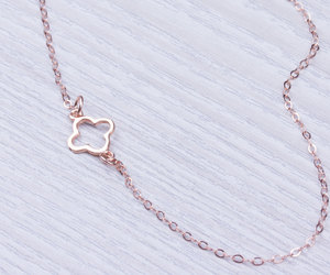 everyday jewelry, asymmetrical necklace, and tiny charm necklace image
