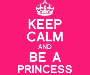 princess, pink, and keep calm image