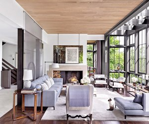 living room, interior, and fireplace image