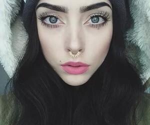 makeup, grunge, and piercing image