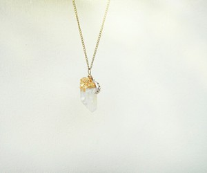 gems, gold, and necklace image