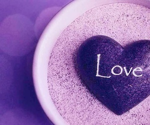 amour, purple, and coeur image