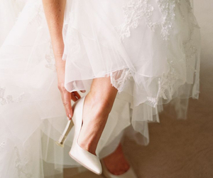 shoes, wedding, and bridal image