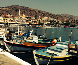 boats, color, and Greece image
