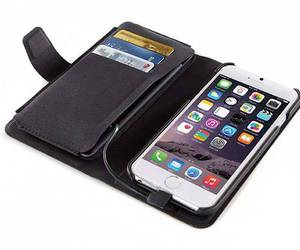 leather case, iphone stand, and backup battery image