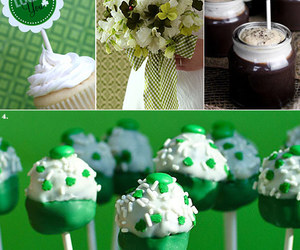 clover, cupcake, and guinness image